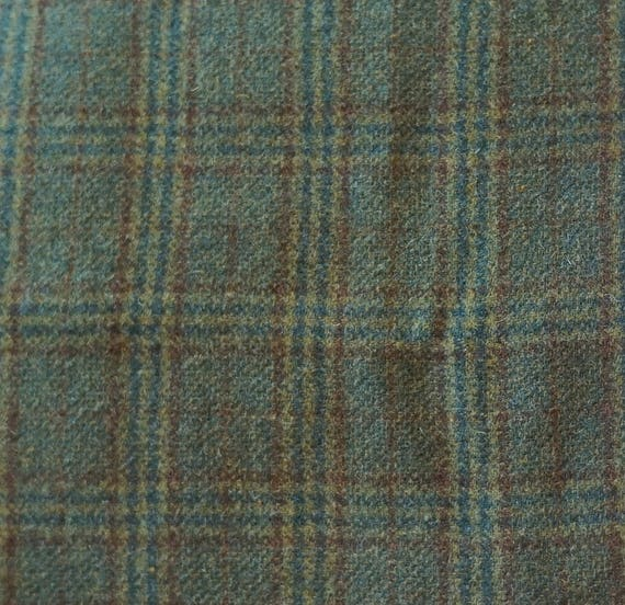 Items Similar To Green Plaid Wool Fabric Felted Wool