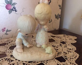 1979 Precious Moments Figurine, Thou Art Mine by Jonathan & David, Excellent Condition