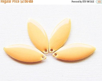 20% OFF Epoxy & Metal Solid Marquise Drops - Silver Plated Peach (4 drops) - spa373