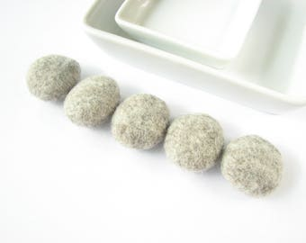 Flat felted wool pebbles  // charcoal // Room decoration, wool ornaments, felt stones, felt rocks, wool home decorations, felt jewelry