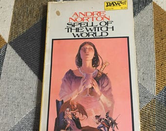 Vintage 1972 Spell of The Witch World Andre Norton Paperback Book