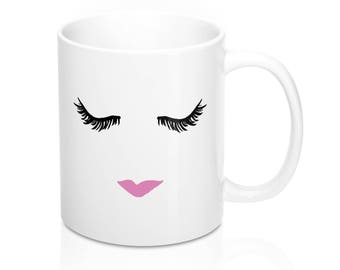 Lashes And Lips Mug In 11oz And 15oz