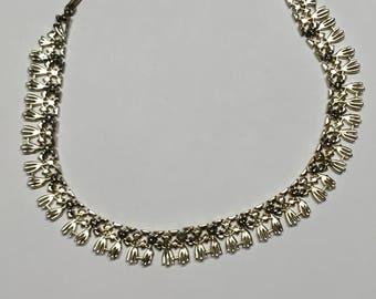 Vintage Coro Tassel Necklace/Vintage Statement Necklace/Coro Jewelry/Coro/Jewelry/Coro Necklace/Vintage/Tassel Necklace/Vintage Necklace/