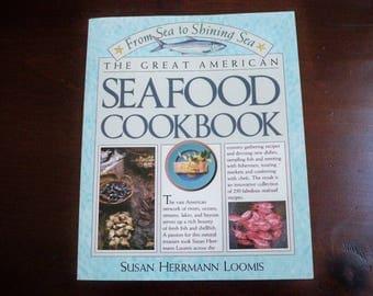 "Vintage Cookbook ""The Great American Seafood Cookbook""  Seafood Recipes"