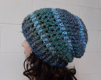 Crochet Slouch hat Womens hat Knitted womens hat Crochet womens beanie Womens knit hat Winter hat crochet hats knit hats Slouchy hat crochet