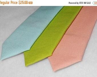 SALE Aqua, Lime, or Peach  Tie - Skinny or Standard width -Men's, Teen. Tween, Youth   2 weeks before shipping