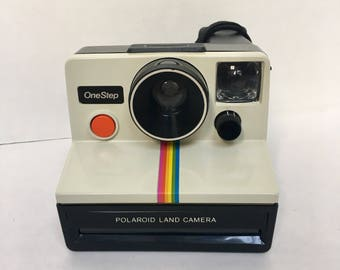Polaroid OneStep Land Camera Rainbow Instagram SX-70 film White