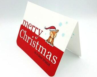 Merry Christmas Card/ Christmas Greeting Card/Card for Friend/Friend Christmas Card/Holiday Card/Christmas Deer/Deer/Merry Christmas Friend