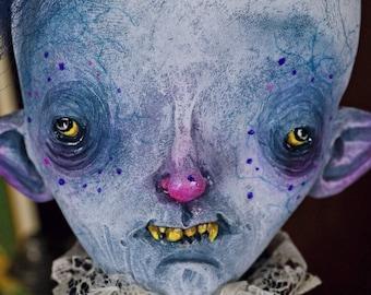 Eduardo Grimualdo - art doll, painter, vampire, doll, art doll monster, whimsical, ooak pure sculpt, handmade doll, halloween doll, creature