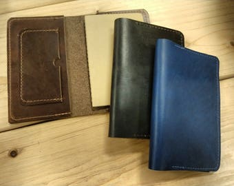 Horween Leather Journal & Passport Cover and Wallet - Fits Small Moleskine