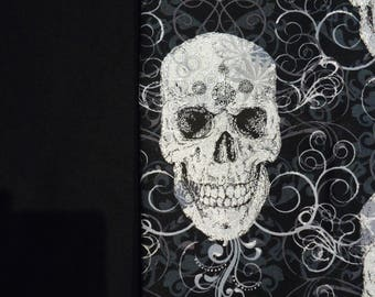 Gothic Skulls Panel Shirt Made to Order in Men's Size Small up to 6X
