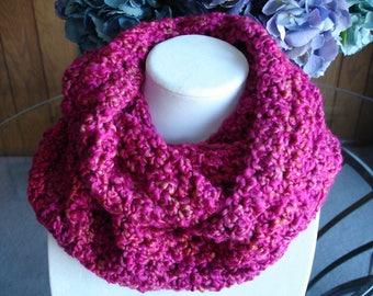Bright Pink Infinity Cowl Scarf