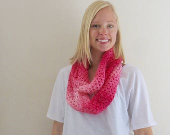 Hot Pink Ombre Infinity Scarf