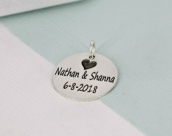 Personalized name charm • 3/4 inch Gold name charm • Personalized Name • Sterling silver, Gold-filled, or Rose gold-filled custom name charm
