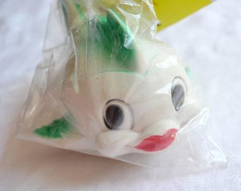 Vintage Squeak Toy - Rubber Squeeze Fish - NOS