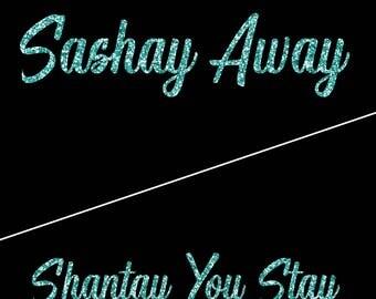 Sashay Away/Shantay You Stay Secret Print Glitter Tee