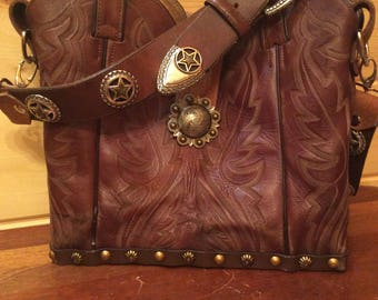 Rebooted Cowboy Boot Top Purse