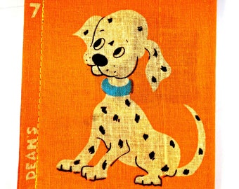 Vintage Cloth Book, deans rag book, vintage rag book, new old stock, cloth book, rag book, spotty dog, childs book, 1950s child book