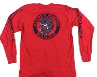 Mammoth Mountain skiing long sleeve t shirt