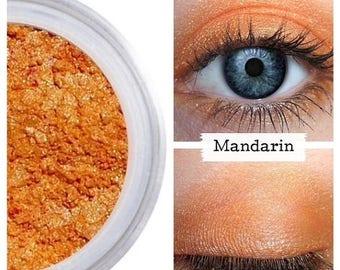 SALE Mandarin Orange, Eyeshadow,  Mandarin Eye Shadow, Orange Make Up, Mineral Makeup, Orange Eye Color, Vegan Makeup, Cruelty Free, Shimmer