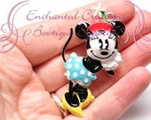 """2"""" Minnie inspiré charme, Rockabilly à pois gros pendentif, porte-clé, marque-page, fermeture à glissière de tirer, Chunky bijoux, sac à main breloque, planificateur charme"""