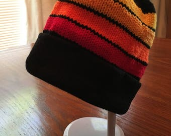 Bright Stripes Youth Hat- Warm Colors