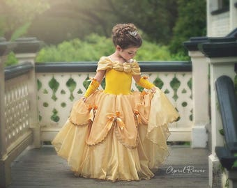 Belle inspired princess dress  size 5 ball gown