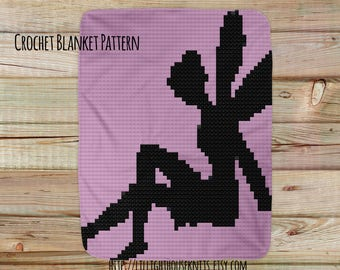 Afghan Pattern Fairy - crochet blanket pattern - Corner to Corner - C2C - Written Line Counts - Cross Stitch - pattern baby blanket