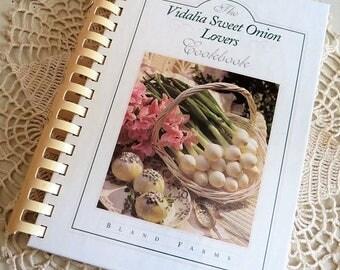 On SALE Vintage Vidalia Sweet Onion Lovers Cookbook Bland Farms