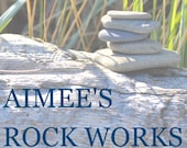 Beach and River Rock Cabinet Knobs Pulls - Custom Order for M