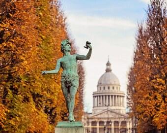 Paris Photography, Paris in Autumn, Paris Decor, Rustic Fall Decor, Luxembourg Gardens, Paris Photo Print, Wall Art Decor
