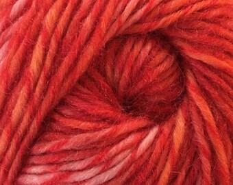 100 Gram Treisur Intrigue #913 Wool Mohair Blend Yarn Red Pink Orange 184 yards