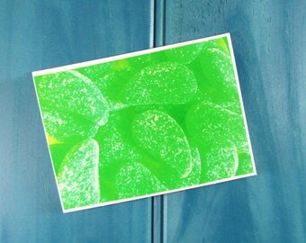 Mint Leaves Lolly Thank You Greeting Card Blank