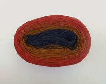 NEW LAKE NIGHT 2 -- Color Changing Cotton yarn -- 480 yards/100 gr -- Fingering Weight