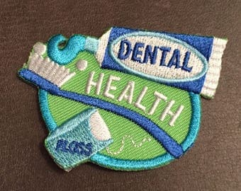 Dental Health Merit Badge Toothbrush Tooth Paste Dental Floss Patch