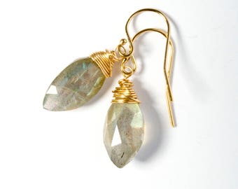 Labradorite Jewelry, Labradorite Earrings, Labradorite, Gold Earrings, Gemstone Earrings, Gemstone Jewelry, Drop Earrings, Stone Earrings