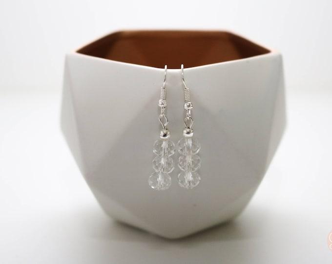 Crystal Clear Drop Earrings.