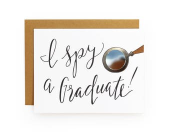 I Spy Graduate - letterpress card