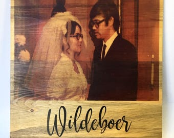 Photo On Wood Image Transfer Forever Keepsake on Reclaimed Wood Personalized Gift Photo Transfer 11 x 12 Inches