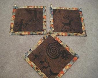 Cave Petroglyphs Kitchen Potholder Set