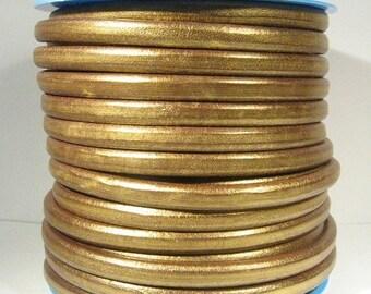 Regaliz Licorice Leather - Metallic Gold - RM2 - Choose Your Length