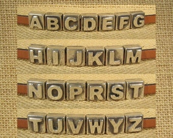 25% Off Letters for 5mm Flat Leather - Antique Silver