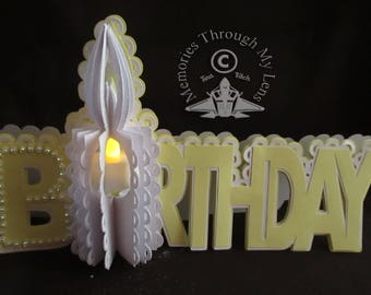 Birthday Tea-Light Candle Card TF0148,SVG,SCAL,CRICUT,Cameo,ScanNCut
