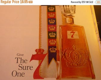 ON SALE Vintage Ad - Seagrams Seven Crown Whiskey ad from 1960s - Original ad