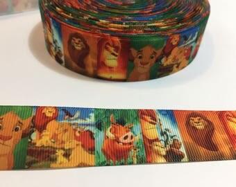 3 Yards of Ribbon - Lion King Simba Mufasa 1 inch wide