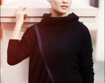 SALE - Turtleneck sweater | Zip sweater | Zipper sweater | Lemuse turtleneck sweater