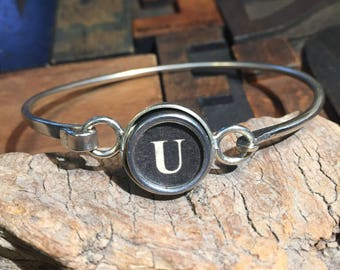 U typewriter key bracelet