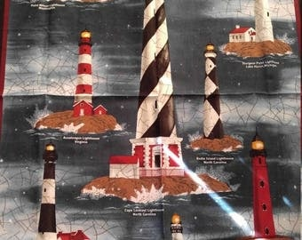 Light House Panel--Fabric---Nice -- 40-70% off Patterns n Books SALE --LAST Piece