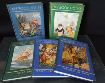 My Book House Book(s) Vintage Children's Kid's Child's Storybook - Flying Sails, Fairy Halls, Treasure Chest, Shining Armor, Tower Window