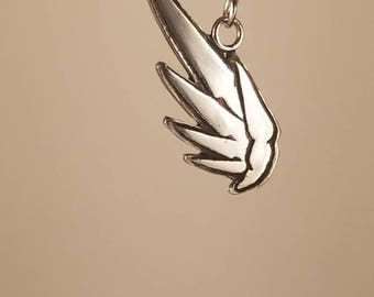 Mercy Wing Pendant Necklace in Sterling Silver